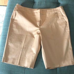 Escada Khaki Shorts Sz 42 or 12 Knee Length